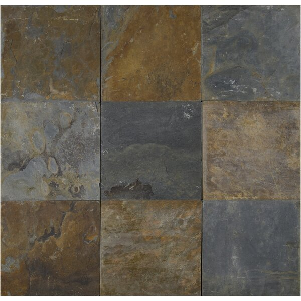 California 16'' x 16'' Slate Field Tile in Multi by MSI