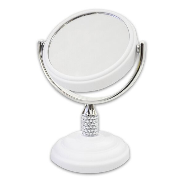 Galvin Mini Dual Sided Makeup / Shaving Mirror by Sweet Home Collection