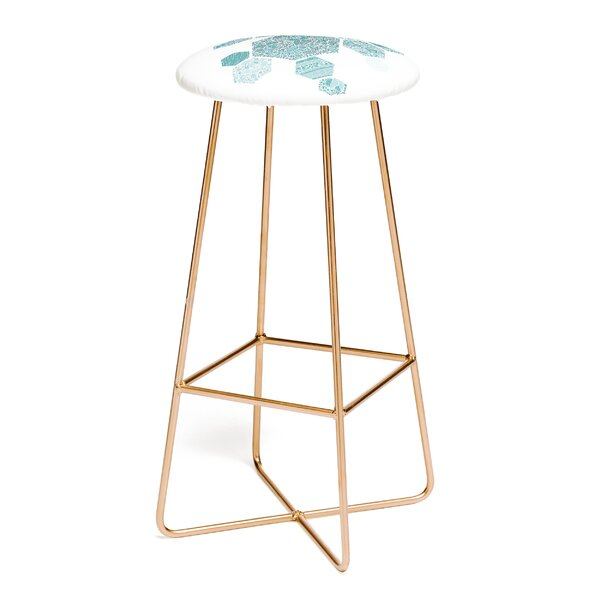 Valentina Ramos Blue Honey 30 Bar Stool by East Urban Home