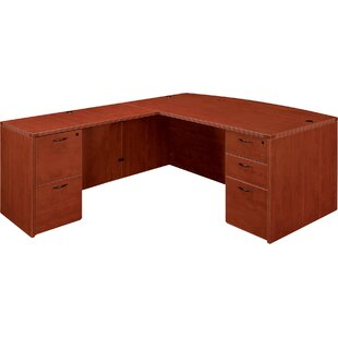 Best Reviews Fairplex Double Pedestals L-Shape Executive Desk By Flexsteel Contract