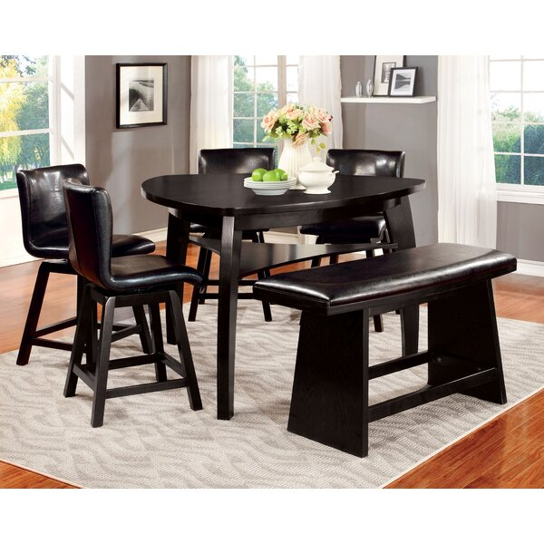 Lawrence 6 Piece Counter Height Pub Table Set by Hokku Designs