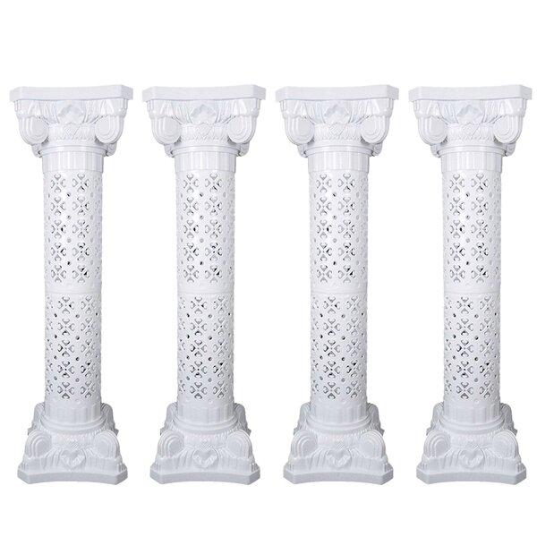 Alvin Wedding Decorative Plastic Roman Column Pedestal (Set of 4) by The Holiday Aisle