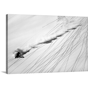 Skiing Powder by Lorenzo Rieg Graphic Art on Canvas by Canvas On Demand