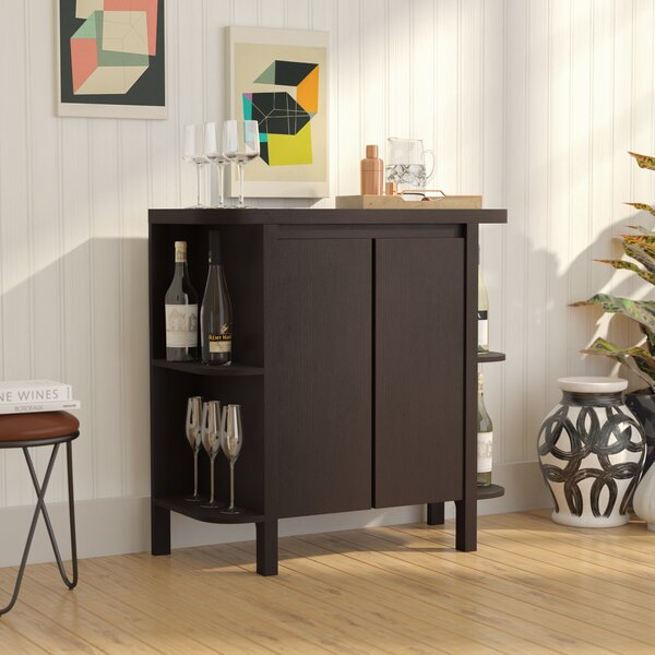 Spraggins Bar Cabinet with Wine Storage by Latitude Run