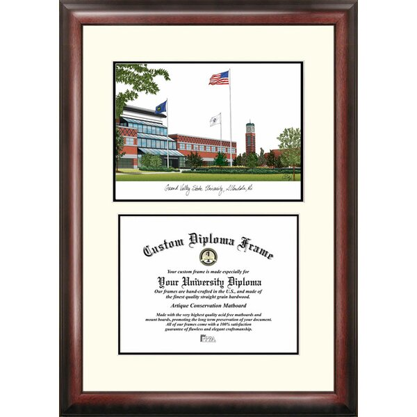 NCAA Grand Valley State University Scholar Lithograph Picture Frame by Campus Images