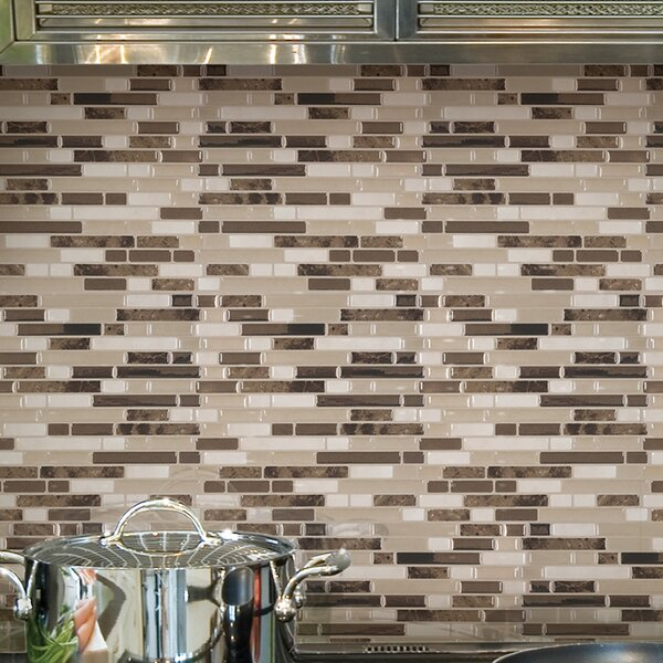 Bellagio Bello 10.06 x 10 Peel & Stick Wall Tile in Brown & Beige by Smart Tiles