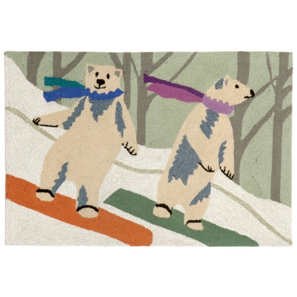 Boarding Bears Multi Indoor/Outdoor Area Rug by The Holiday Aisle