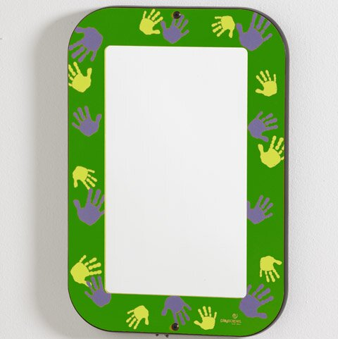 Green Hands On Wall Mirror by Playscapes