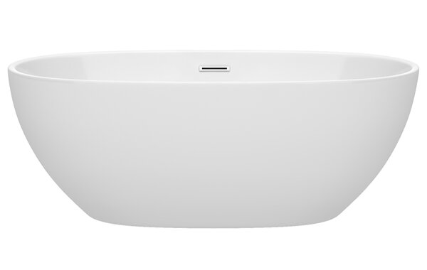 Juno 63 x 32 Freestanding Soaking Bathtub by Wyndh