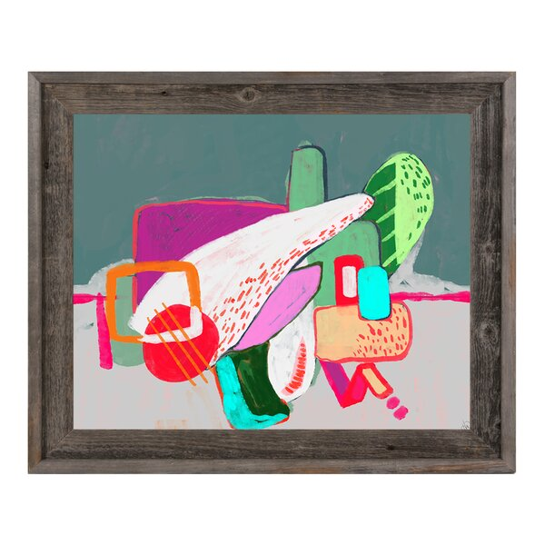 Abstract Playground Magenta Framed Painting Print on Canvas by Click Wall Art