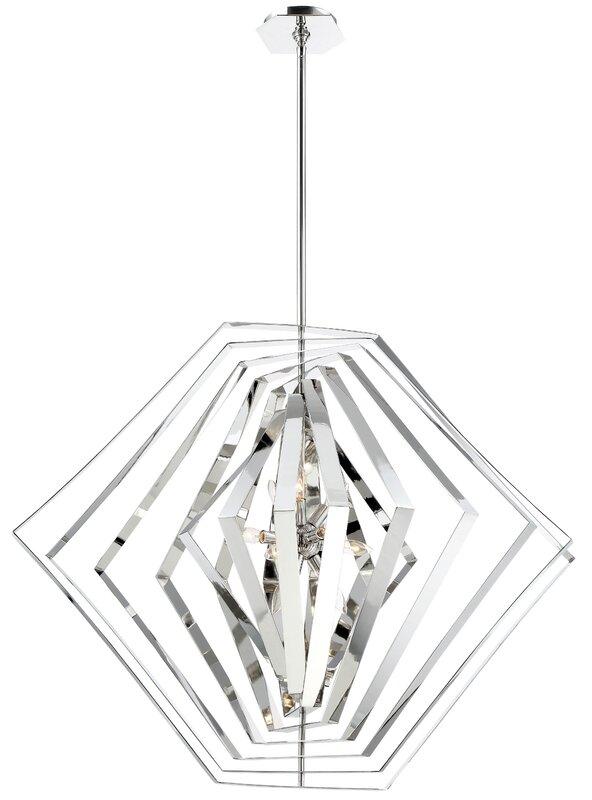 Orren Ellis Lenna 10 Light Candle Style Chandelier Reviews