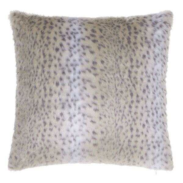 Aaryahi Leopard Faux Fur Throw Pillow by Willa Arlo Interiors