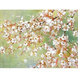 'Into the Cherry Blossom' Painting Print on Wrapped Canvas by World Menagerie