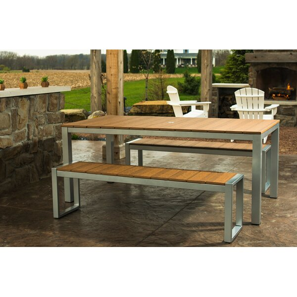 Katreesha Modern Outdoor Dining Table by Orren Ellis