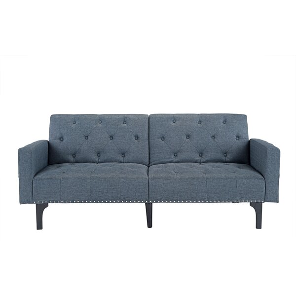 Rather Modern Tufted Reclining Sleeper Sofa by Wrought Studio