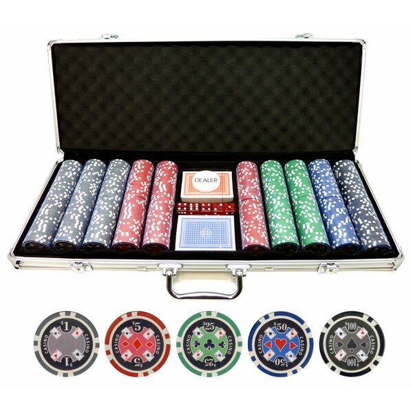 500 Piece Casino Ace Poker Chip by JP Commerce