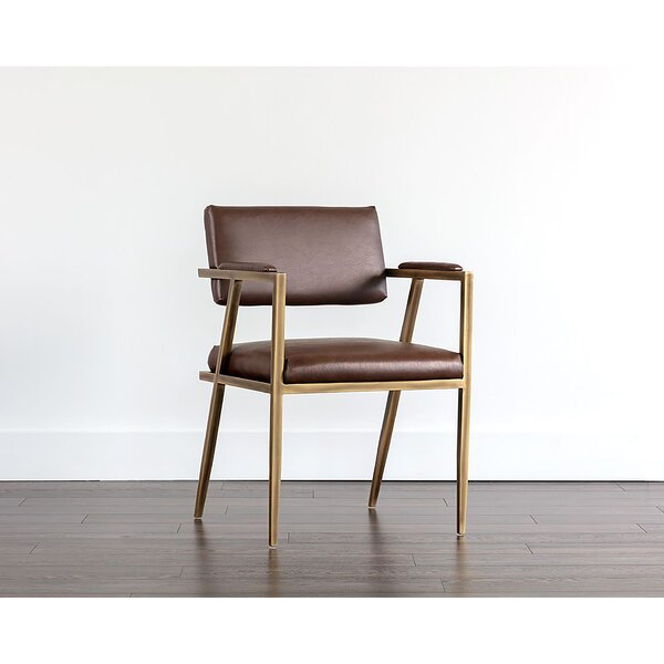 Miera Upholstered Arm Chair In Brown By Brayden Studio