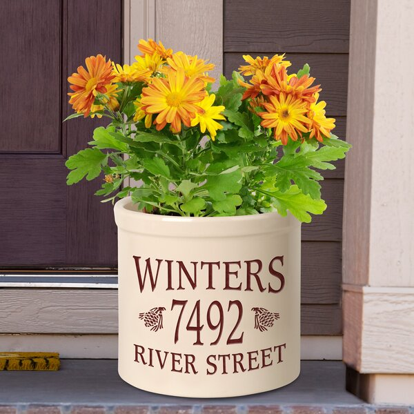 Woodyard Personalized Pinecone Ceramic Pot Planter by August Grove