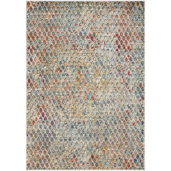 Ragland Modern Geometric Teal Area Rug by World Menagerie