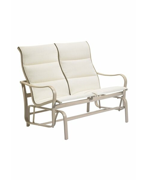 Shoreline Padded Sling Double Glider Bench by Tropitone