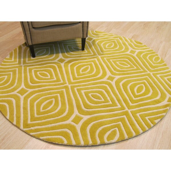 Marley Hand-Tufted Wool Yellow Area Rug by Corrigan Studio