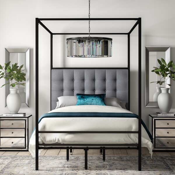 Billie Queen Upholstered Canopy Bed by Greyleigh