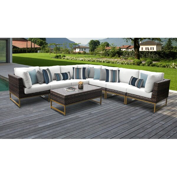 Mcclurg 8 Piece Sectional Seating Group with Cushions by Darby Home Co Darby Home Co