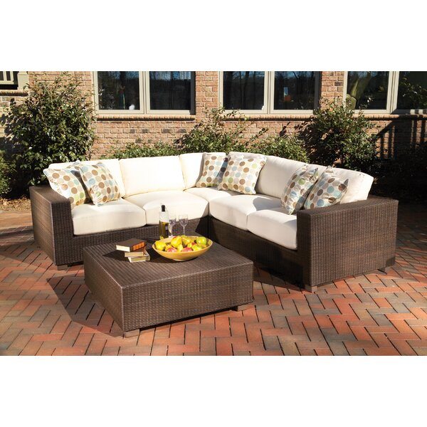 Montecito Sectional Loveseat With Cushions By Woodard