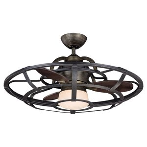 26″ Wilburton 3 Blade Outdoor Ceiling Fan with Remote