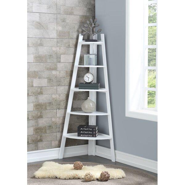 Mari Wood Corner Bookcase By Andover Mills