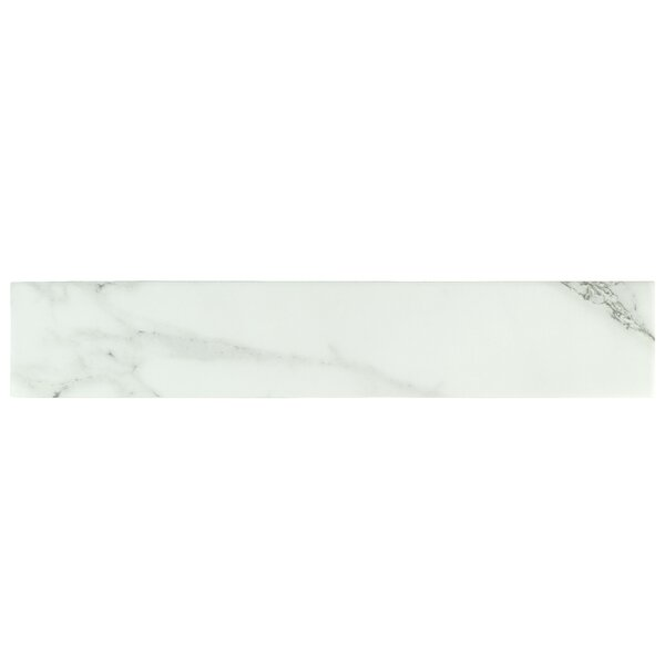 Delos 3.13 x 17.38 Porcelain Field Tile in White by EliteTile