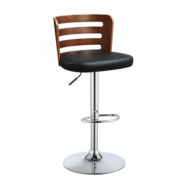 Douthit Adjustable Height Swivel Bar Stool by George Oliver