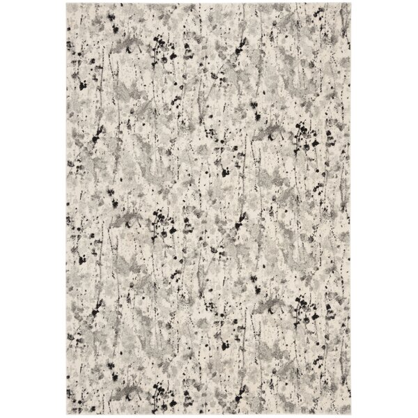 Gore Ivory/Gray Area Rug by Ebern Designs