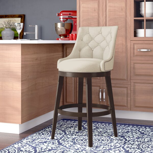 Daniel 24 Swivel Bar Stool with Cushion by Darby H
