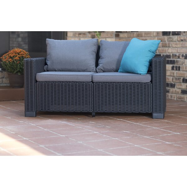 Stallcup Rattan Loveseat with Cushions by Brayden Studio