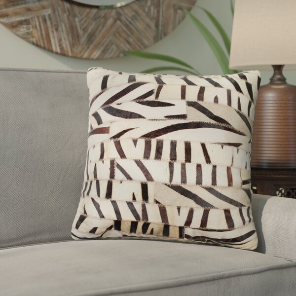Graham Leather Throw Pillow by Bloomsbury Market