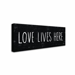 Love Lives Here by Michael Mullan Textual Art on Wrapped Canvas by Trademark Fine Art