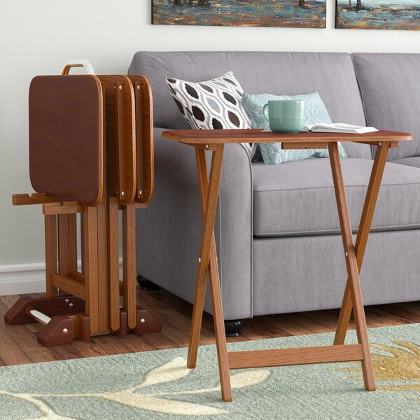 Berne 5 Piece Tray Table Set By Alcott Hill