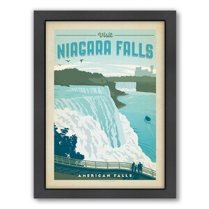 National Park Niagra by Anderson Design Group Framed Vintage Advertisement by Americanflat
