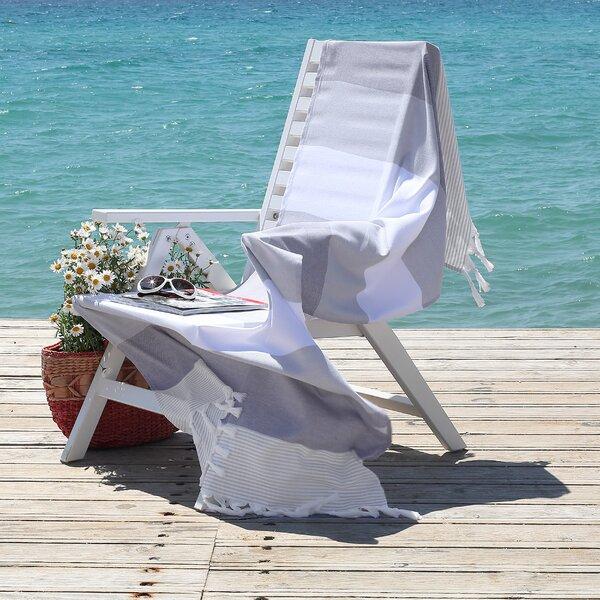 Sea Waves Pestemal Turkish Cotton Beach Towel by L