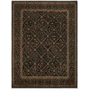 One-of-a-Kind Aaru Hand-Knotted Wool Black/Gray Area Rug Isabelline