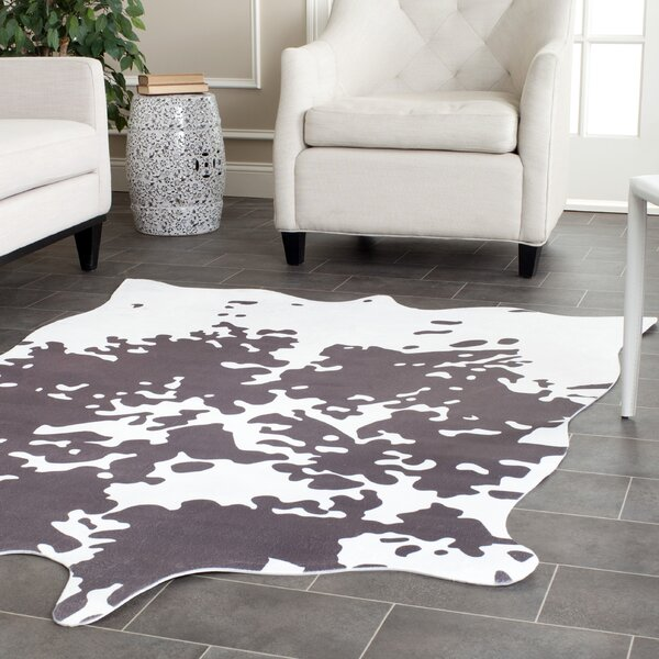 Faux Hide Hand-Tufted Gray/White Area Rug by Safavieh