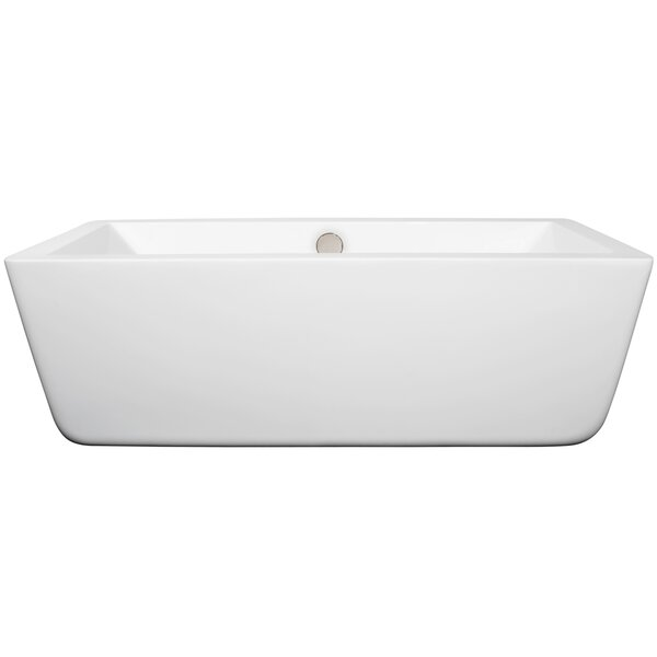 Laura 66.5 x 29.38 Soaking Bathtub by Wyndham Collection