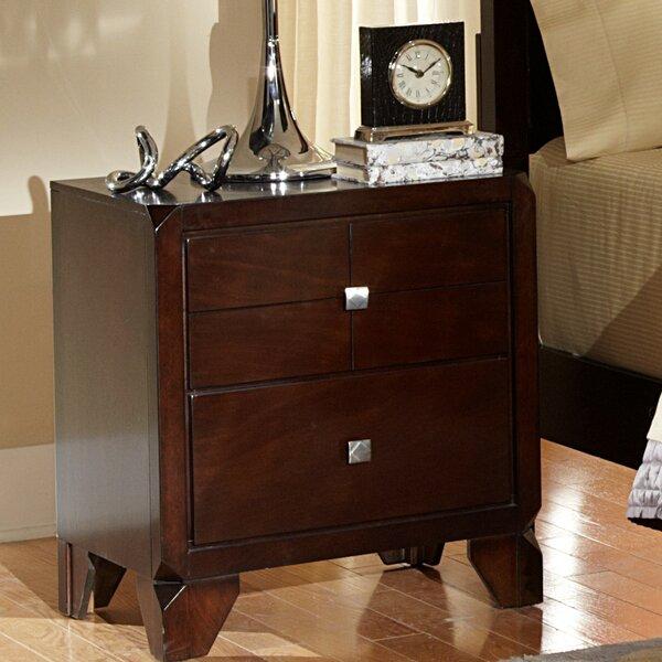 Phoenix 2 Drawer Nightstand by Wildon Home®