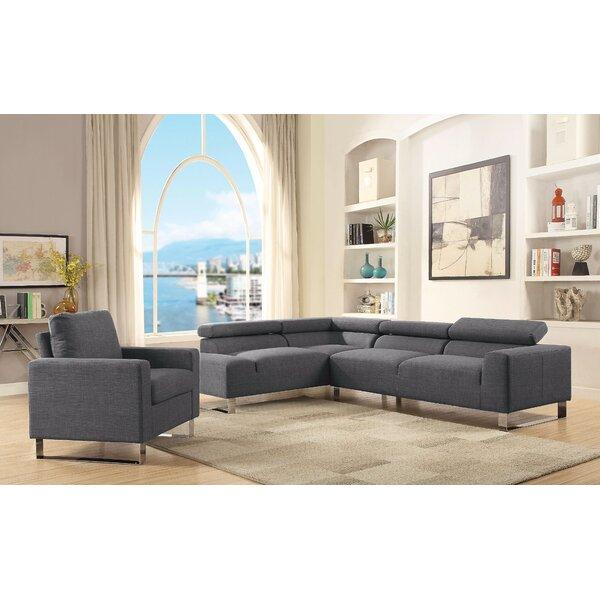 Best #1 Banker Sectional Sofa By Brayden Studio Discount on ...