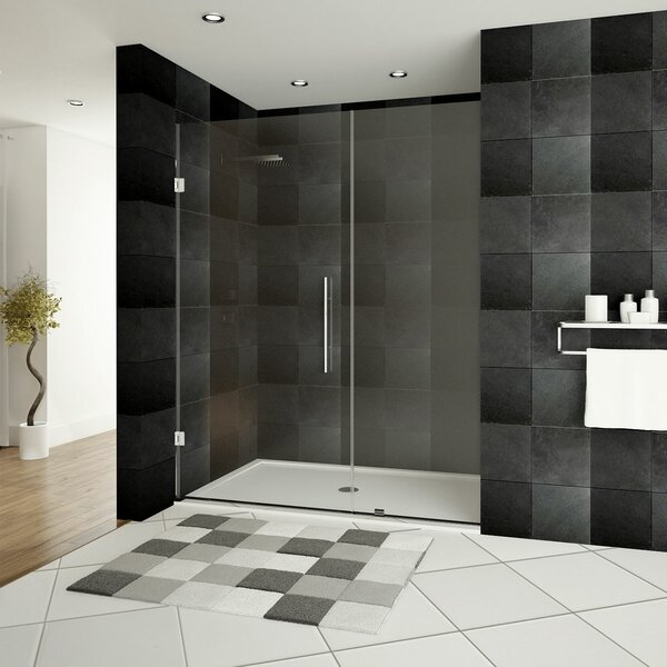 Ultra-E 49 x 72 Hinged Shower Doors with Side Panel by LessCare