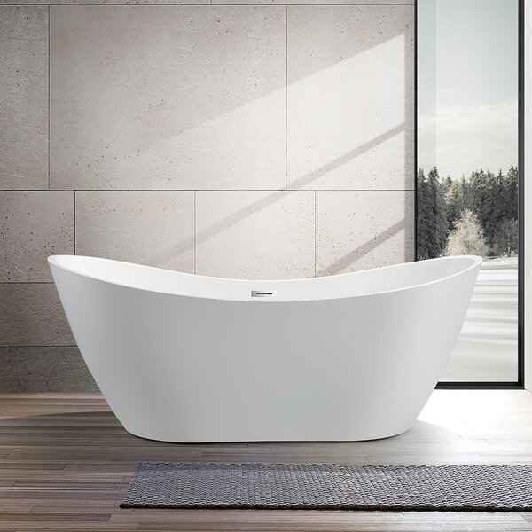 71 x 31.5 Freestanding Soaking Bathtub by Vanity A