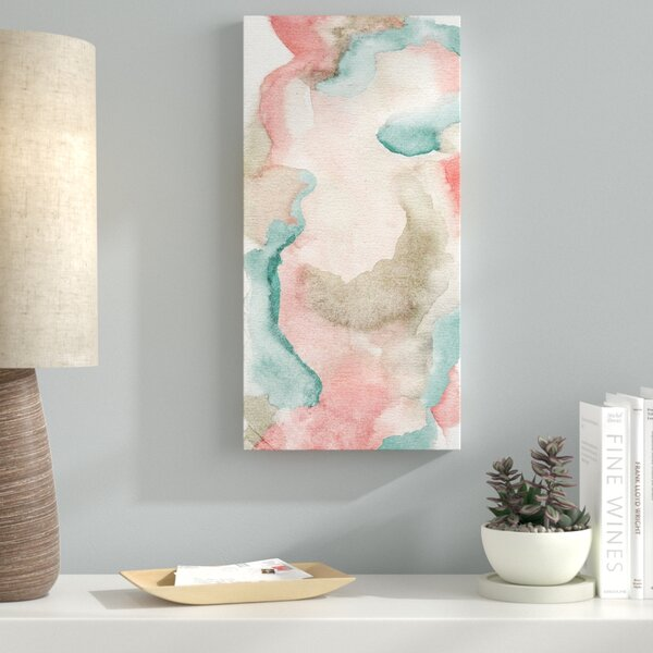Blush And Teal Thoughts Painting Print on Wrapped Canvas by Latitude Run