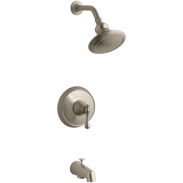 Revival Rite-Temp Pressure-Balancing Bath and Shower Faucet Trim with Traditional Lever Handle by Kohler