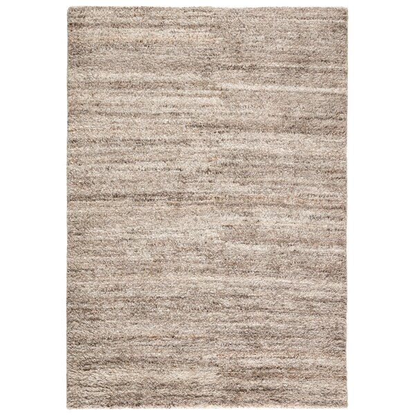 Kasim Hand-Knotted Gray/Ivory Indoor/Outdoor Area Rug